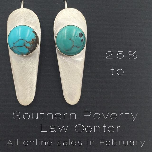 Inspired by badass boss babe @sennitandsauvage , 25% of all my online sales in February will be donated to the Southern Poverty Law Center.